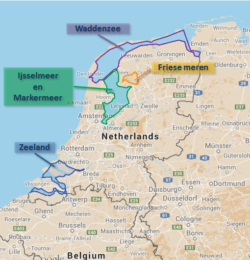 Zeilgebieden Nederland