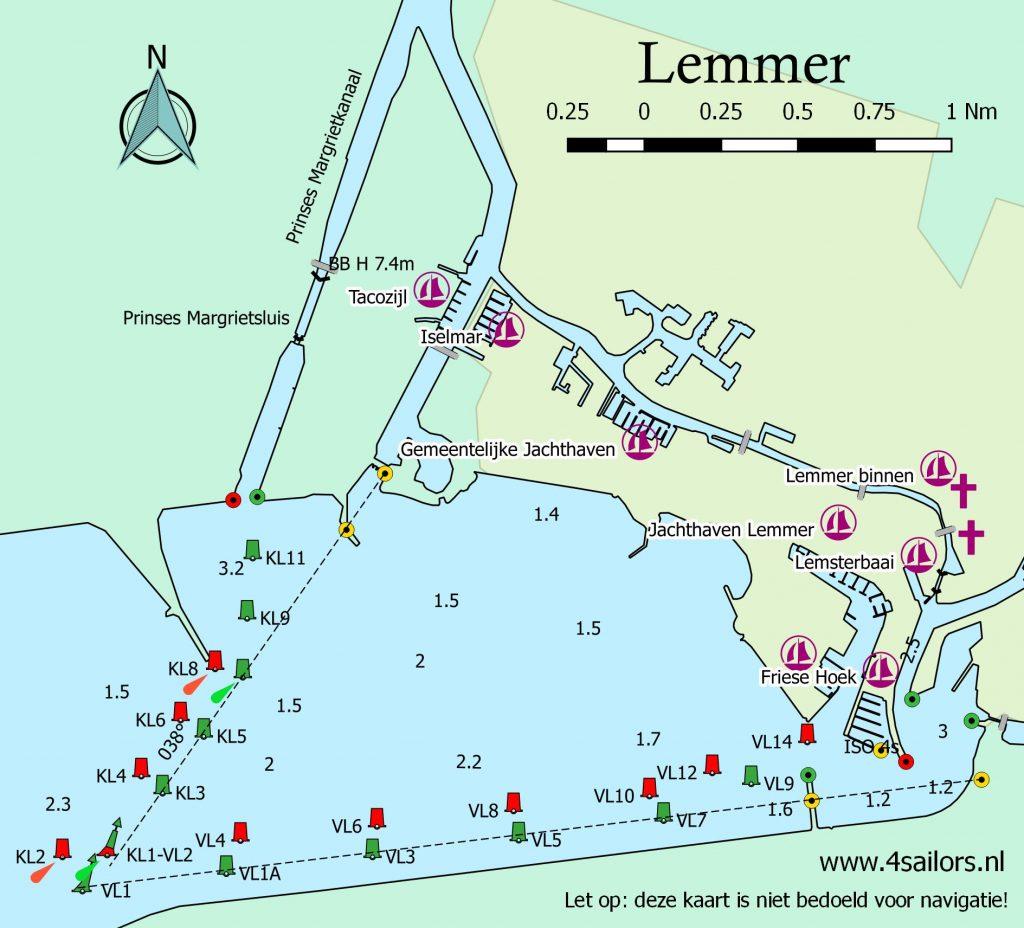 Overzichtkaart/Plattegrond haven Lemmer
