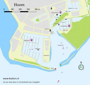 Map of Hoorn harbours
